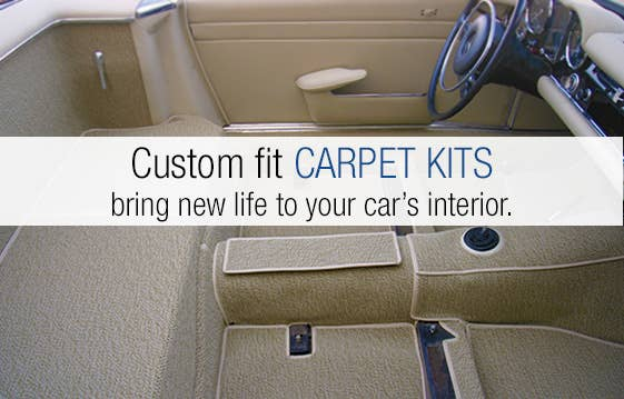 Custom fit CARPET KITS bring new life to your car's interior